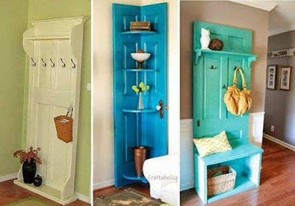 DIY Ideas to Give New life to Old doors.DIY理念给新生活到老门。