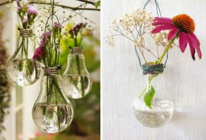 DIY Light Bulb Art.DIY灯泡的艺术。