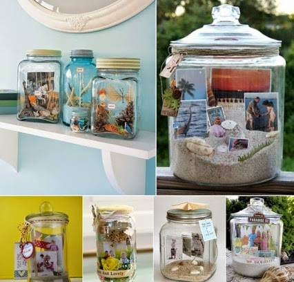 DIY Memories In A Jar.罐子里的回忆。