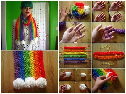 Easy To Make Finger Knitted Scarfs – DIY 容易地用手指织围巾