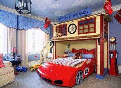 Fantasy Bed For Kid.酷酷的儿童房。