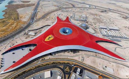 Ferrari World, Abu Dhabi.法拉利世界阿布扎比。