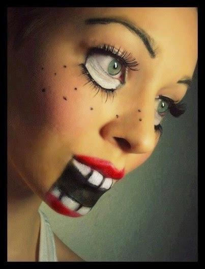 Halloween make-up idea.万圣节化妆的想法。