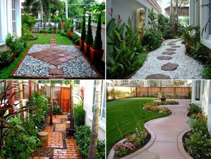 How to make a unique pathway for your garden.如何为你的花园,打造一个独特的小路。