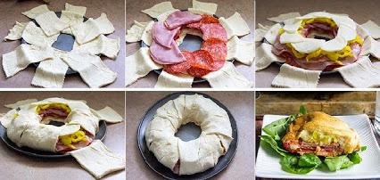 Italian Hero Crescent Ring Recipe.意大利英雄月牙环的美食配方。
