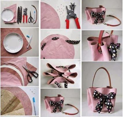 Make a Handbag Without Sewing.漂亮的自制手袋