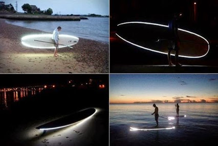 Nightsup LED Stand Up Paddleboard.LED nightsup冲浪站起来。