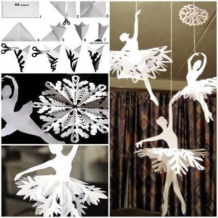 Paper Snowflake Ballerinas.剪纸艺术