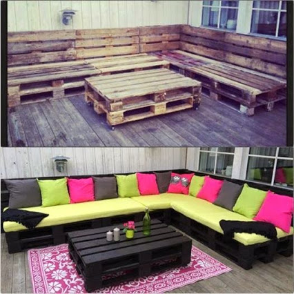 Recycle Pallets and Turn Them Into Unique Pieces of Furniture.独特的家具作品。