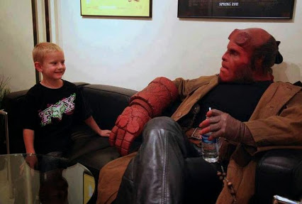 Ron Perlman put on the make-up for Hellboy (a 4 hour process) just to fulfill a child's Make-A-Wish request. He then spent the whole day with the child.