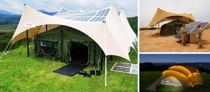 Solar Powered Tent.太阳能帐篷。