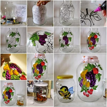 Teach Your Kids The Art Of Jar Painting.教你的孩子绘画艺术罐。