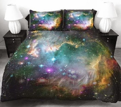 These galaxy space sheets are outta this world !这些星系的空间表的离开这个世界!
