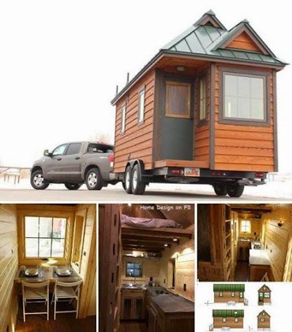 Tiny House on Wheels.小房子汽车。