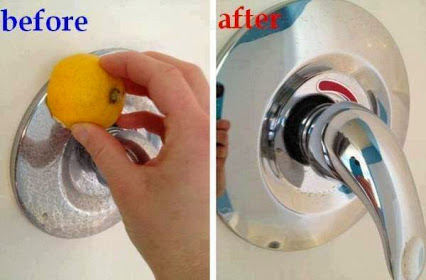 Use Lemon To Clean Different Things In Your Home.用柠檬擦不锈刚,除锈!