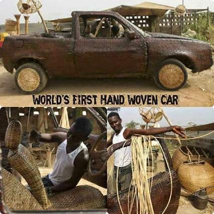 World's First Hand Woven Car!第一辆的世界编织的车!