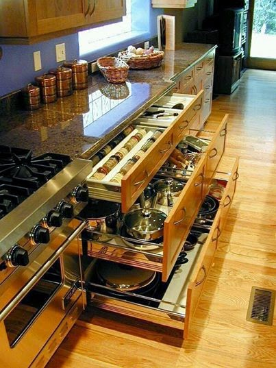 Awesome Kitchen Storage.真棒厨房存储。
