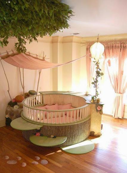 Round Nursery Bed.花圃式的圆床