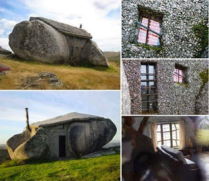 Stone House in Portugal.在葡萄牙的石头房子。
