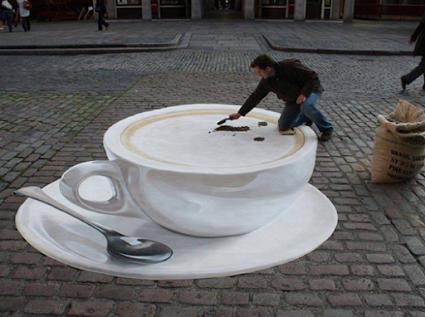 Stunning 3D Street Art.令人惊叹的3D街头艺术。