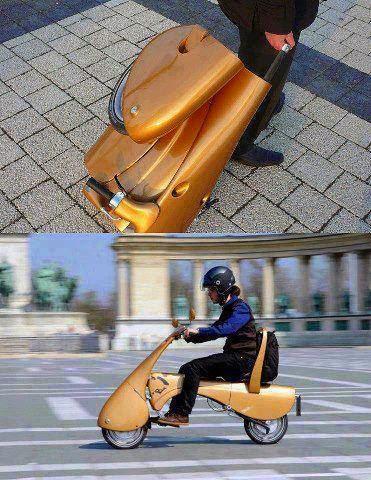 Technology !可以折叠的电动车!